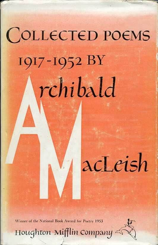 Cover of Archibald MacLeish's Collected Poems, 1917-1952