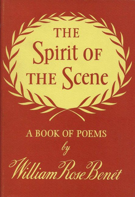First Edition Cover The Spirit of the Scene by William Rose Benet photo