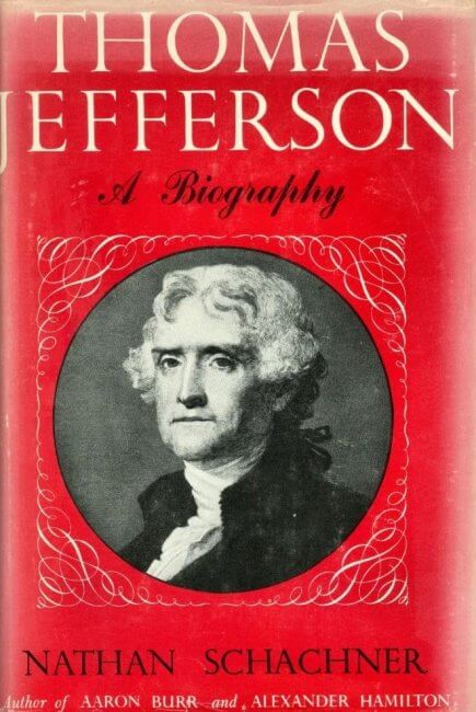 First Edition Cover of Thomas Jefferson by Nathan Schachner photo