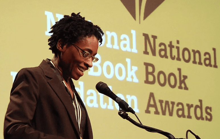 Jacqueline Woodson reads from Brown Girl Dreaming at 2014 NBA Finalists Reading