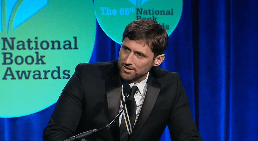 Phil Klay accepts the 2014 National Book Award in Fiction for Redeployment