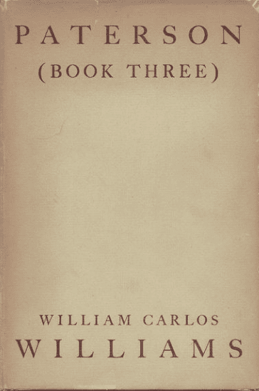 Paterson: Book Three, by William Carlos Williams book cover