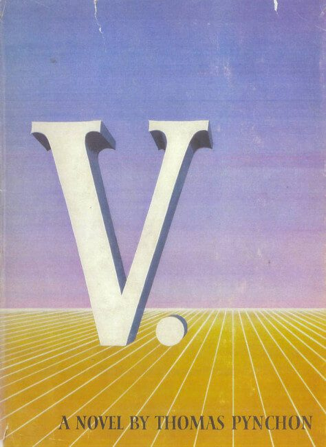 V by thomas pynchon book cover