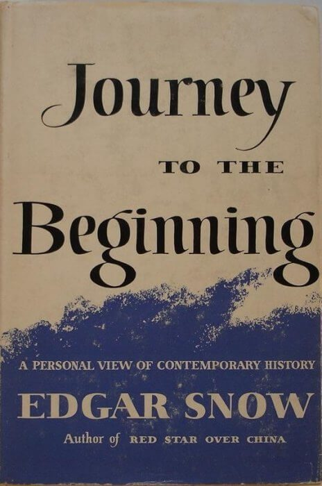 cover of Journey to the Beginning by Edgar Snow