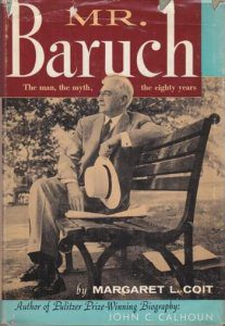 cover of Mr Baruch by Margaret L Coit
