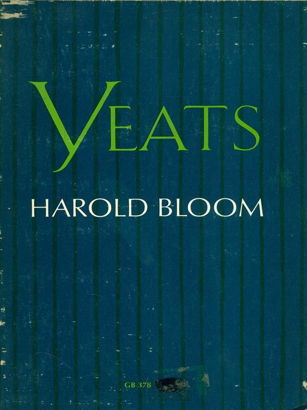 cover of Yeats by Harold Bloom