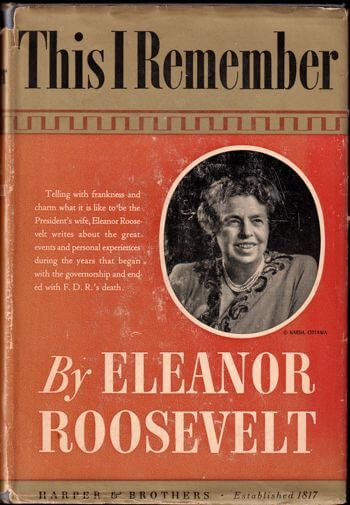 eleanor roosevelt this i remember first edition cover
