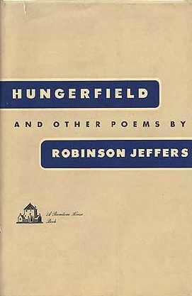 first edition cover of Hungerfield and Other Poems by Robinson Jeffers