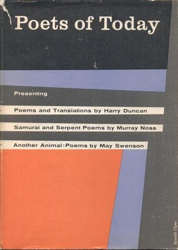 first edition cover of Poets of Today feat Another Animal by May Swenson