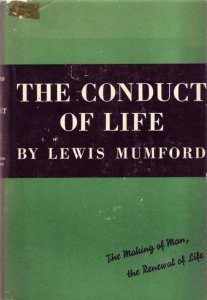 first edition cover of the conduct of life by lewis mumford