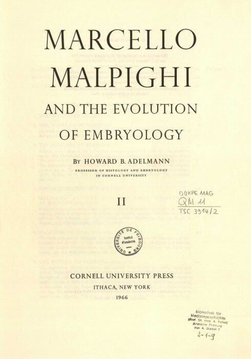 Marcello Malpighi and the Evolution of Embryology book cover