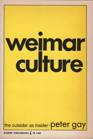 Weimar Culture by Peter Gay book cover