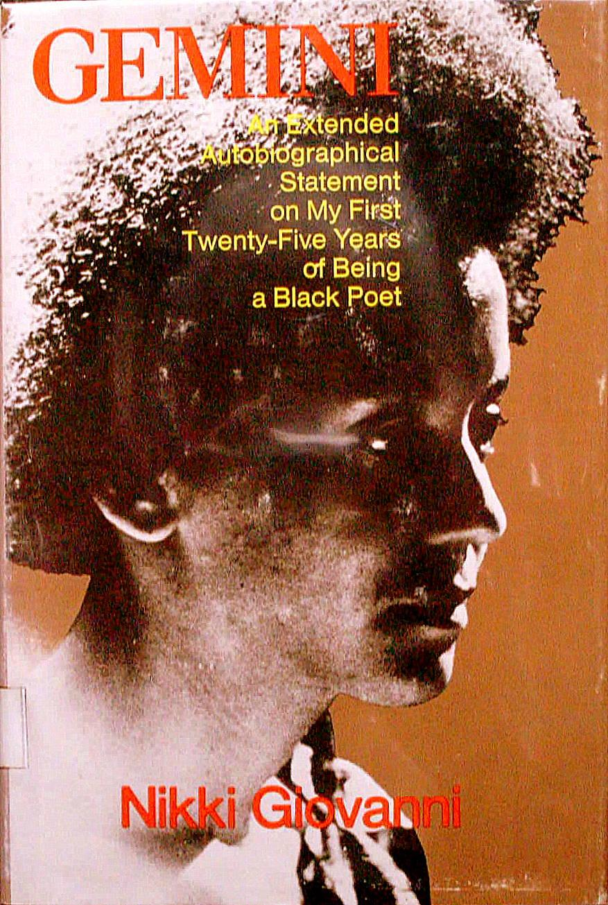 cover of Gemini by Nikki Giovanni