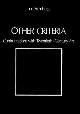 cover of Other Criteria Confrontations with Twentieth-Century Art by Leo Steinberg