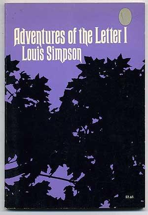cover of Adventures of the Letter I by Louis Simpson