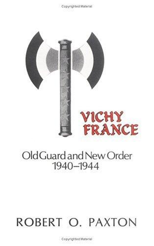 cover of Vichy France by Robert O Paxton