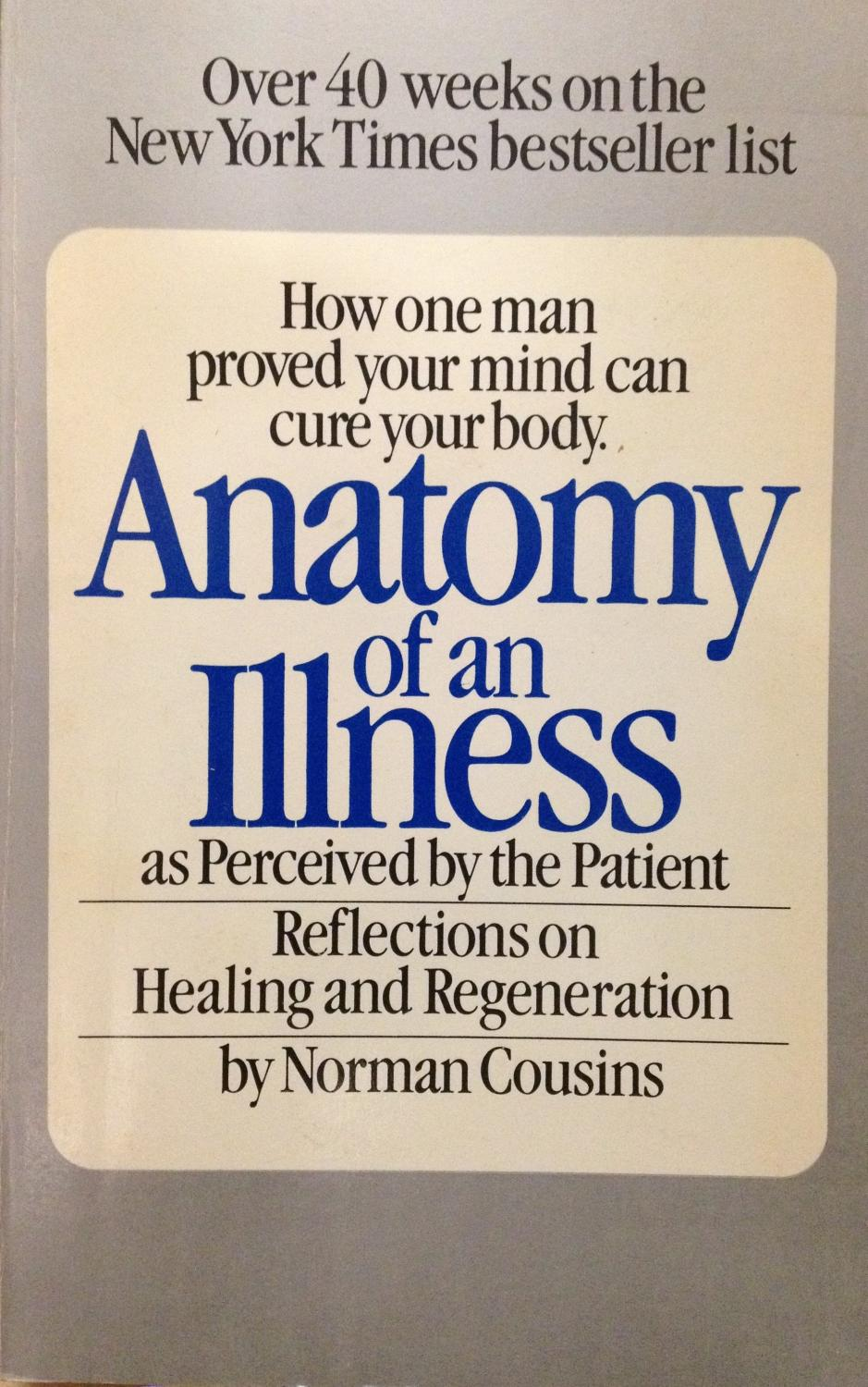 cover of Anatomy of an Illness by Norman Cousins