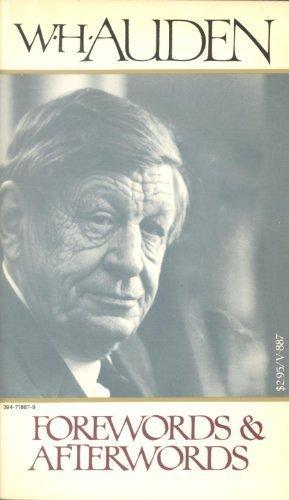 cover of Forewords and Afterwords by W H Auden