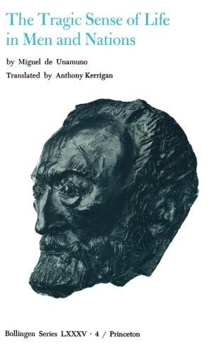 cover of Miguel D. Unamuno's The Tragic Sense of Life in Men and Nations translated by Anthony Kerrigan
