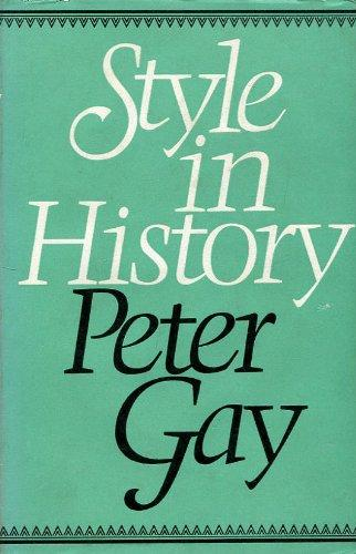 cover of Style in History by Peter Gay