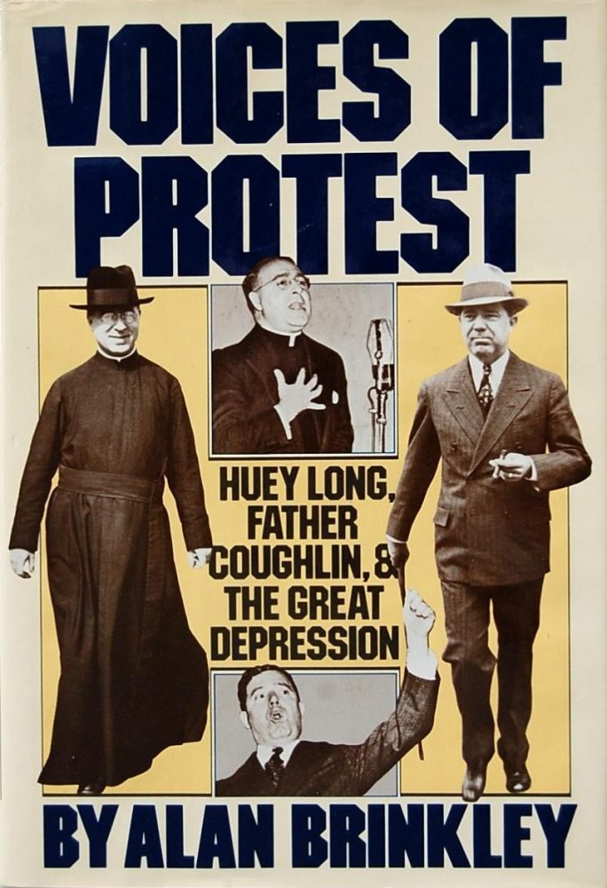 cover of Voices of Protest Huey Long Father Coughlin and the Great Depression by Alan Brinkley