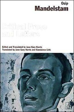 cover Critical Prose and Letters by Osip Mandelstam