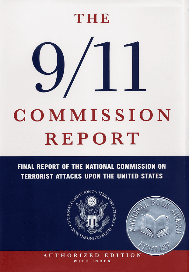 The 9/11 Commission Report: Final Report of the National Commission on Terrorist Attacks Upon the United States book cover, 2004