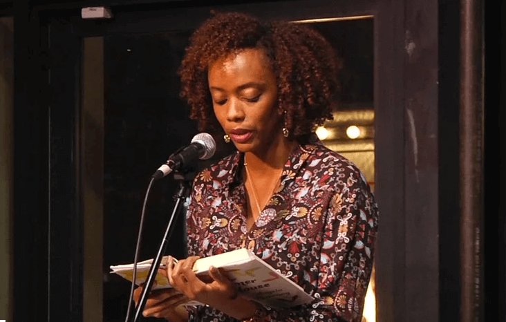 Angela Flournoy reads at the 2015 NBF 5 Under 35 Celebration
