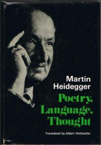cover of Heidegger's Poetry, Language, Thought translated by Albert Hofstadter