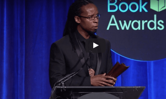 Ibram X. Kendi accepting the 2016 National Book Award for Nonfiction