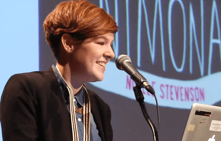 Noelle Stevenson reads from Nimona at the 2015 NBA Finalists Reading