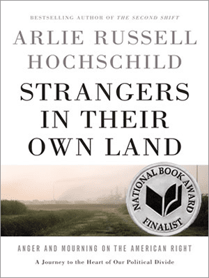 Strangers In Their Own Land by Arlie Russell Hochschild book cover