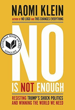 No Is Not Enough by Naomi Klein book cover