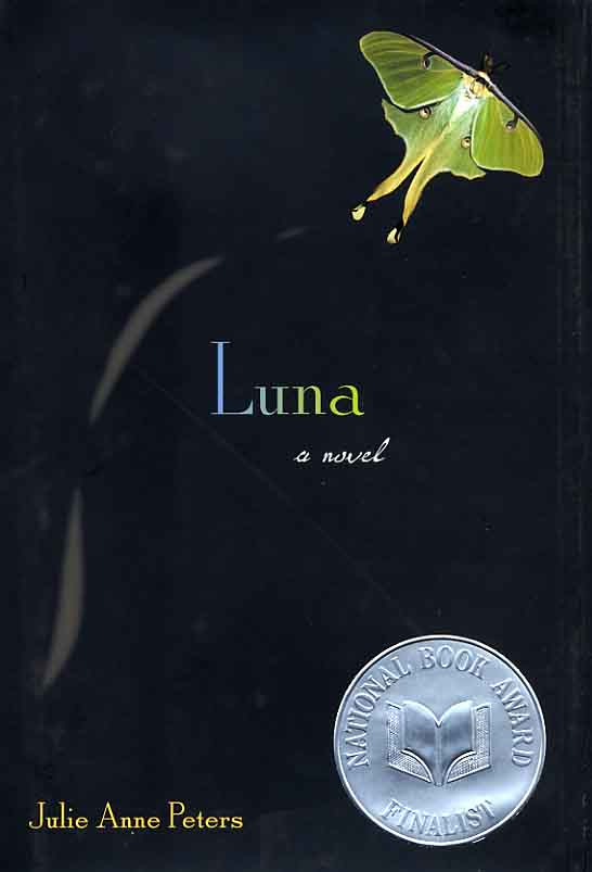 Luna by Julie Anne Peters book cover