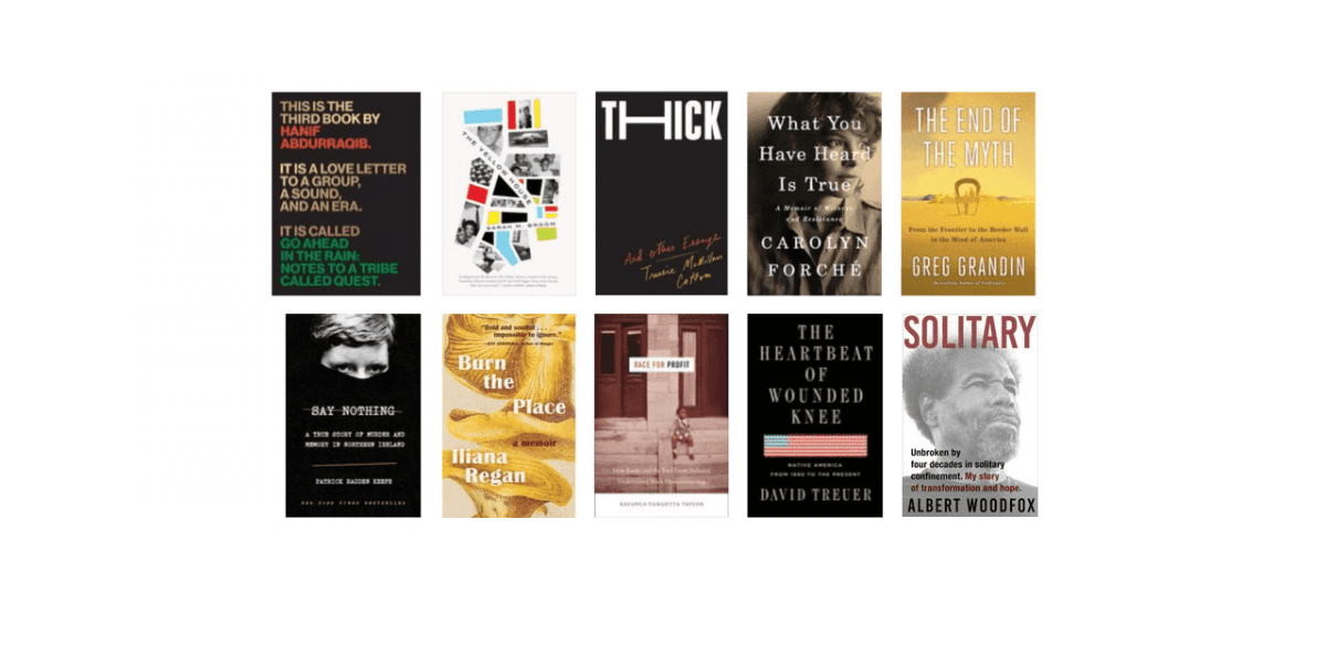 2019 National Book Awards Longlist for Nonfiction