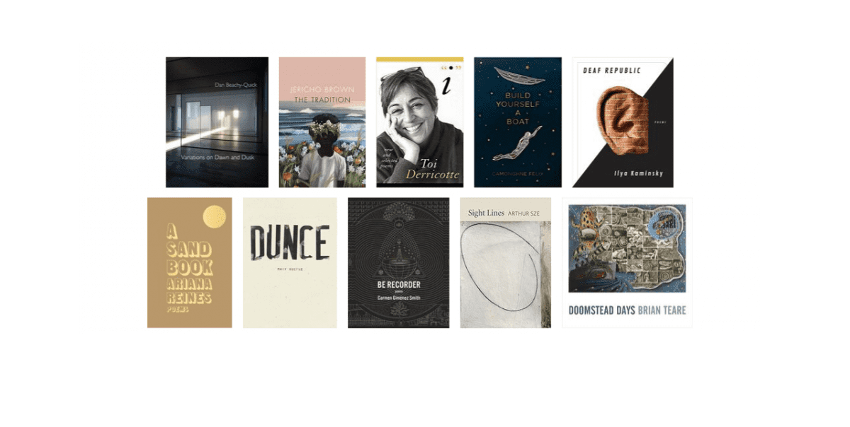 2019 National Book Awards Longlist for Poetry