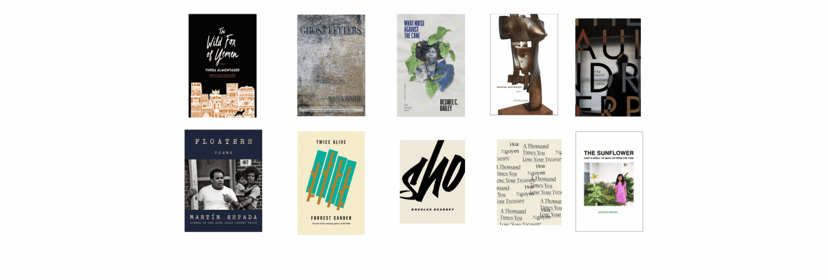 2021 National Book Awards Longlist for Poetry